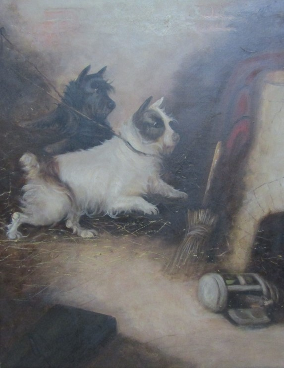 GEORGE ARMFIELD (1808-1893): A pair of elaborate gilt framed oils on canvas, - Image 3 of 13