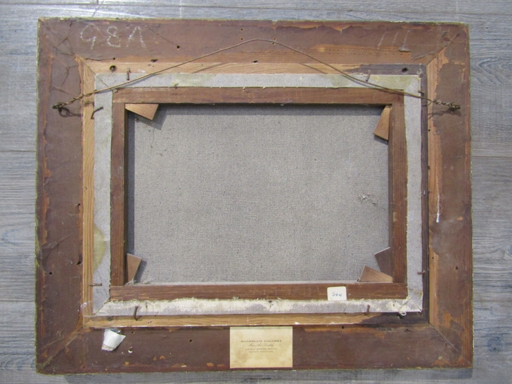 C.M. MASKELL (1846-1933): A gilt framed oil on canvas. - Image 4 of 5