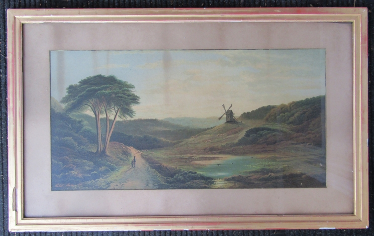 After CHARLES LESLIE (1839-1886): A framed and glazed print of a watercolour,