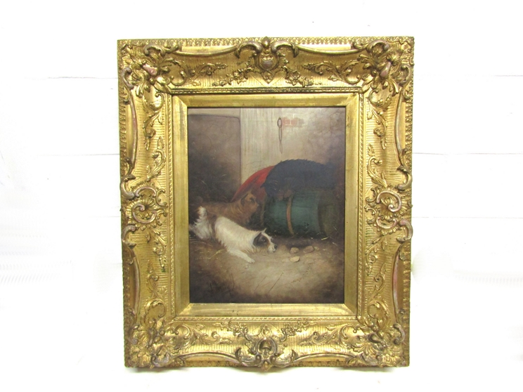 GEORGE ARMFIELD (1808-1893): A pair of elaborate gilt framed oils on canvas, - Image 8 of 13