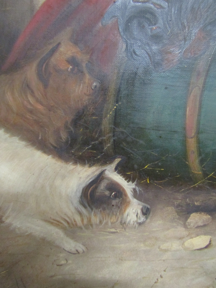 GEORGE ARMFIELD (1808-1893): A pair of elaborate gilt framed oils on canvas, - Image 10 of 13