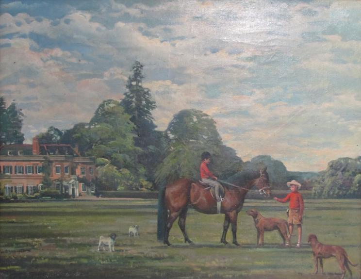 RICHARD JOHN MUNRO DUPONT (1920 - 1977) (ARR) A large gilt framed oil on canvas depicting Charlie