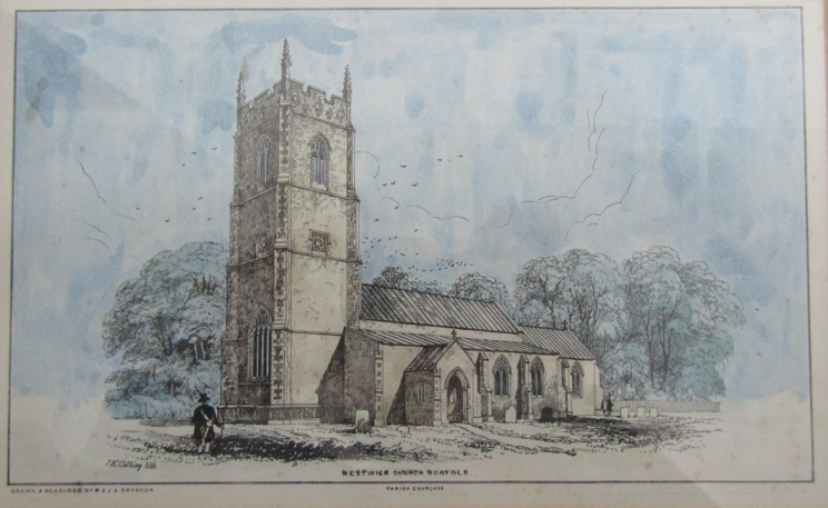 33 framed and glazed prints after JK Colling and others of Norfolk & Suffolk Churches and Church - Image 2 of 4