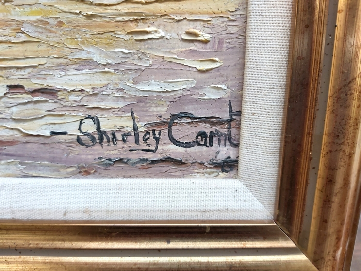 SHIRLEY CARNT (XX/XXI): A framed oil on board, Italian dock scene. Signed bottom right. - Image 2 of 3