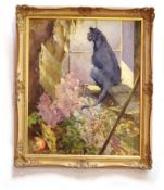 ANNA AIRY RI ROI RP RE (1882-1964) (ARR) An oil on canvas titled 'Back Shop Cat'. Signed top left.