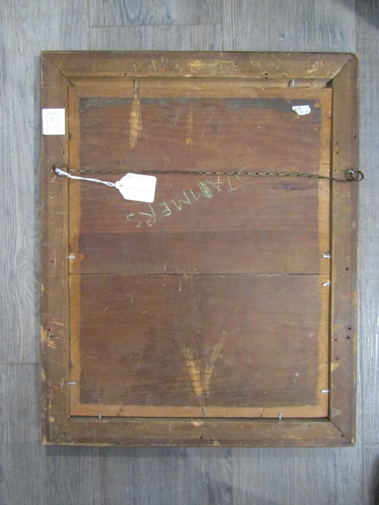 VALENTINE THOMAS GARLAND (1868-1914): A gilt framed oil on board, - Image 5 of 5