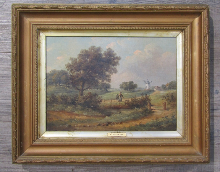 C.M. MASKELL (1846-1933): A gilt framed oil on canvas. - Image 3 of 5