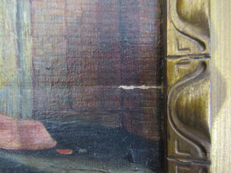 VALENTINE THOMAS GARLAND (1868-1914): A gilt framed oil on board, - Image 4 of 5