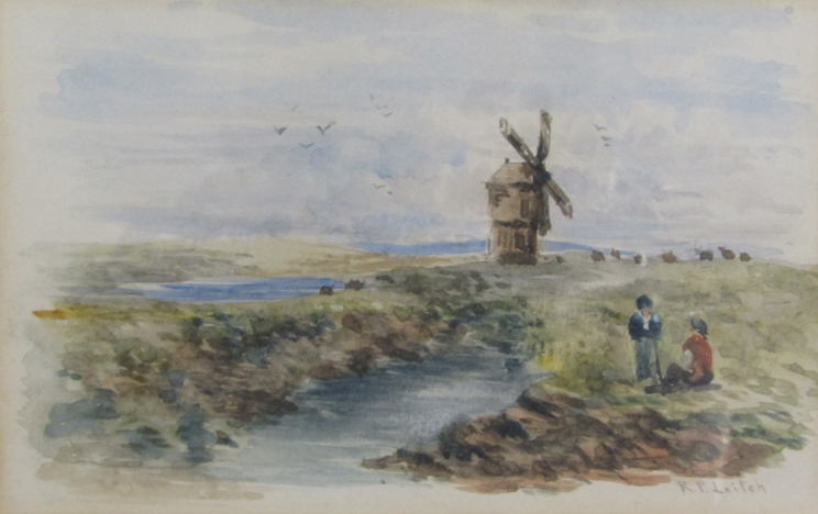 RICHARD PRINCIPAL LEITCH (c1800-1880): A framed and glazed watercolour,