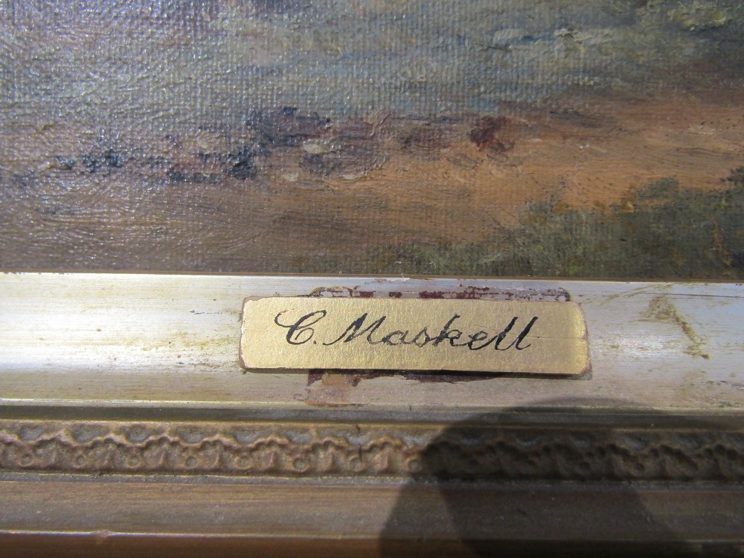 C.M. MASKELL (1846-1933): A gilt framed oil on canvas. - Image 2 of 5