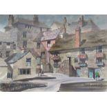 DEREK COBB (XX): A framed and glazed watercolour, Cornish village scene. Signed bottom right.