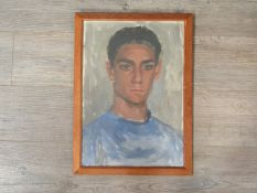 CHARLES KINGHORN REDFERN (Canadian 1919-1982) A framed and glazed oil on paper, portrait of 'Gino',