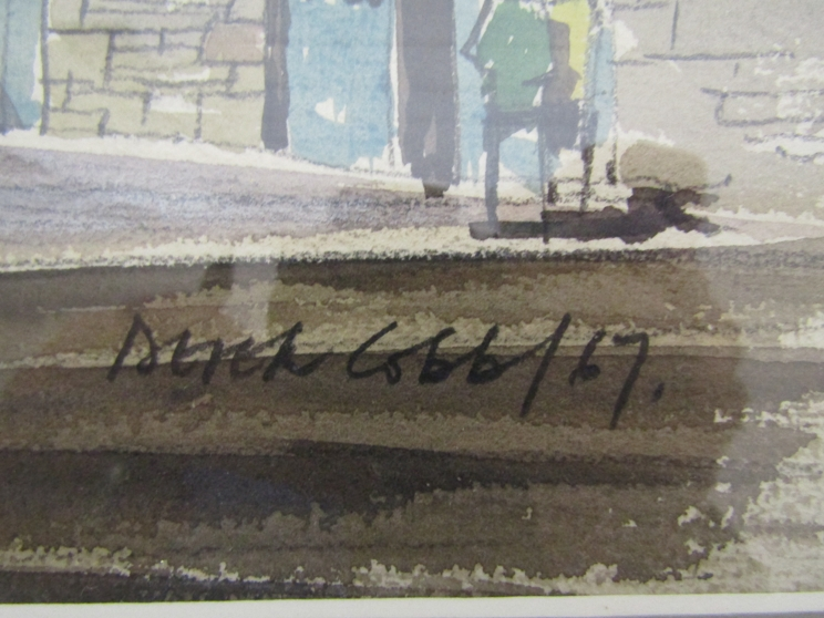 DEREK COBB (XX): A framed and glazed watercolour, Cornish village scene. Signed bottom right. - Image 2 of 5