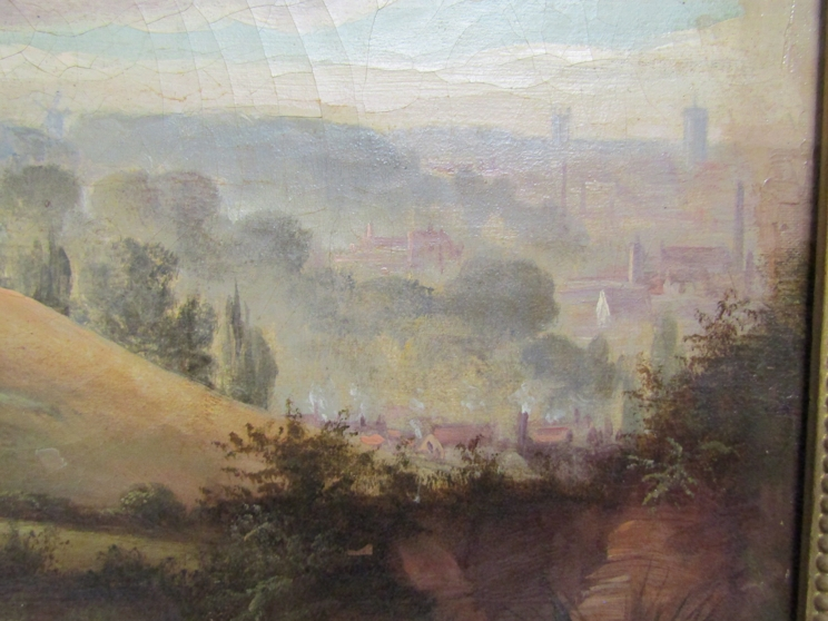 An oil on canvas of view over Mousehold heath 1884. 39cm x 59. - Image 3 of 6