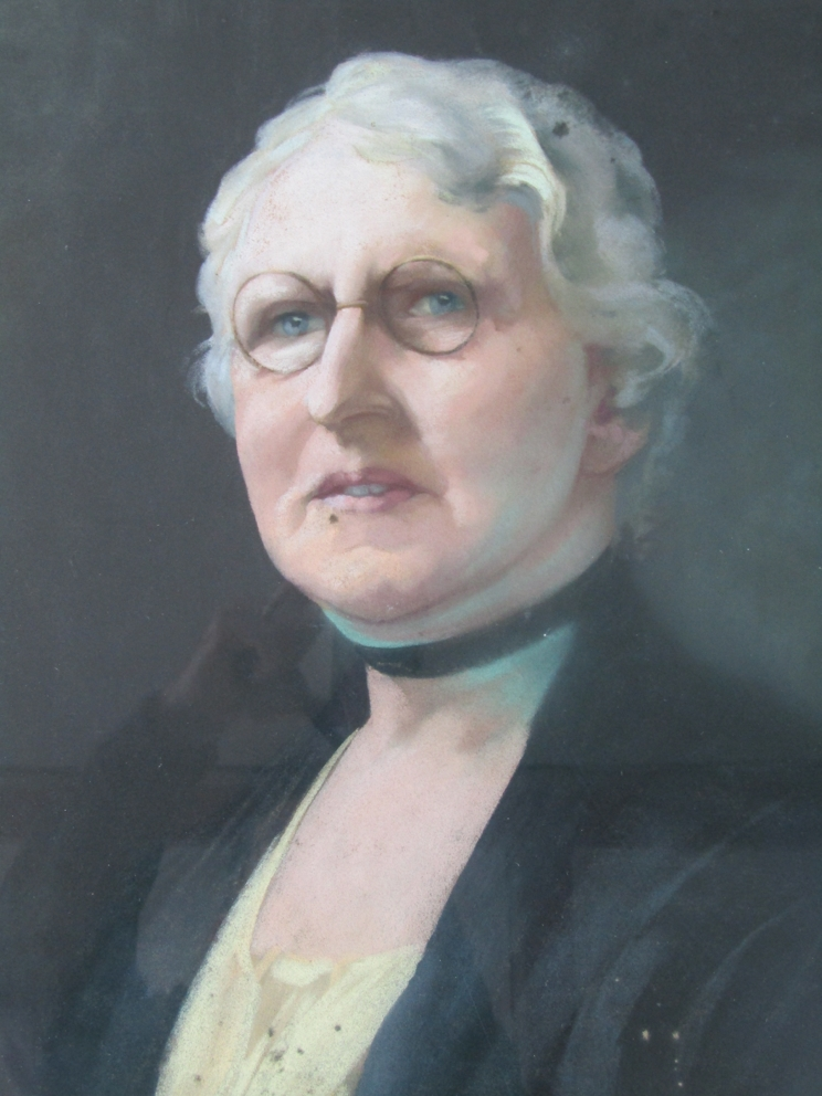 A pair of gilt framed and glazed portraits, one in oil on canvas, - Image 5 of 8