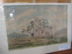 MARTIN HARDIE (1875-1952) Breckland Church in Norfolk, watercolour, signed lower left, 40cm x 26.