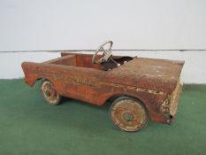 A Tri-ang Bermuda metal pedal car a/f