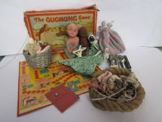 """Vintage games and toys including """"The Gugnunc Game"""" The Lucky Na'Poo Mascot by Willow pottery"""