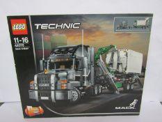 A boxed Lego Technic set 42078 Mack Anthem