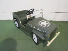 A Biemme US Army Willy's Jeep plastic pedal car