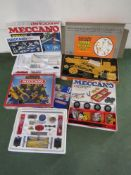Four assorted Meccano sets to include set S Expansion Pack, set 3,