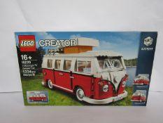 An unopened Lego Creator set 10220 Volkswagen T1 Camper Van