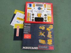 A boxed Meccano set 3M
