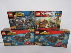 Two unopened Lego Super Heroes 76048 Iron Skull Sub Attack sets,
