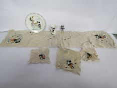 A vintage Mickey Mouse plate,