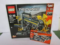 An unopened Lego Technic set 42055 Bucket Wheel Excavator and 8293 accessory pack (2)