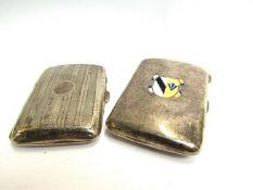 Two silver cigarette cases,