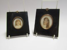 Two Edwardian miniature portraits 5.