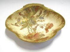 A Doulton & Burslem dish and two miniature stoneware jugs (3)