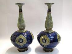 A pair of Royal Doulton Art Nouveau vases,