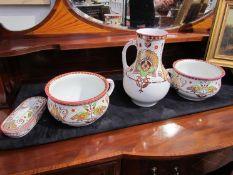 "A Victorian ""Brownfield"" Christopher Dresser style wash set"