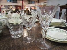 A collection of Waterford Sheila design glasses including wine,