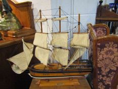 "A model ship on stand ""Endeavour"""