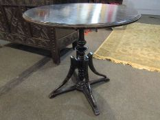 An Anglo-Greek Arts & Crafts ebonised table attributed to Mayr Smith,