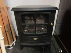 A Dimplex flame effect electric stove