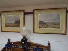 A pair of Edwards lithographs depicting hunting scenes, 36x 49cm,