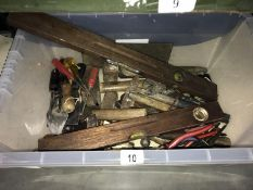 A good lot of hand tools, including hammers, screwdrivers, levels, etc.