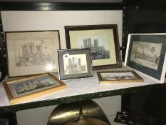 6 framed and glazed pictures of Lincoln