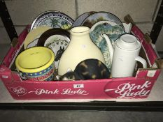 Quantity of china, picture plates, vases,