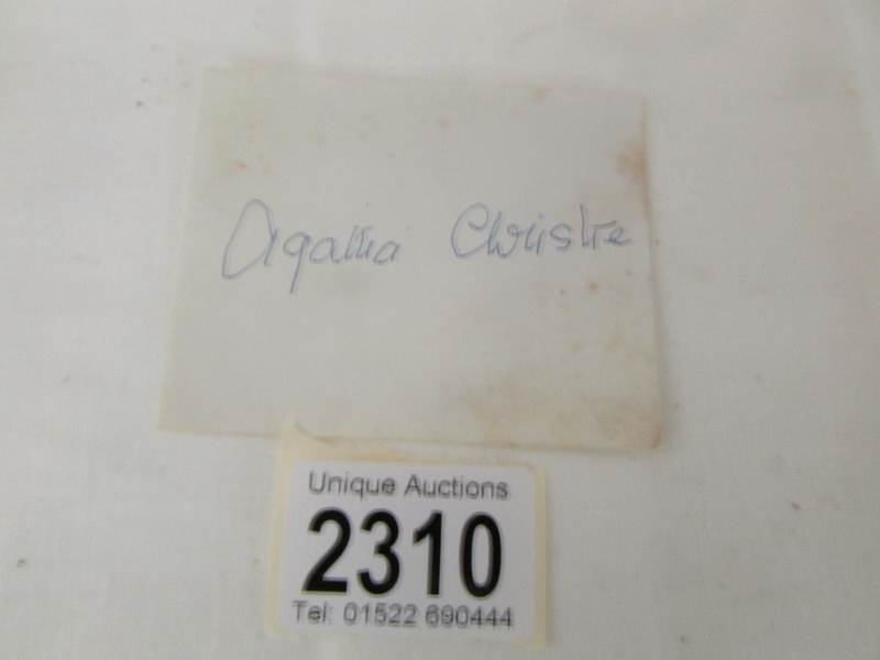 Lot 2310 - An Agatha Christie autograph on paper slip.