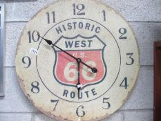 A Route 66 aged clock