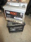 2 small 12V car batteries