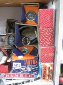 A large shelf of new old stock mainly Roote Car spares