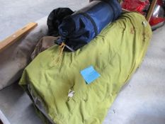 A huge lot of camping items.