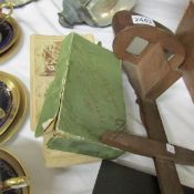A wooden 'Perfescope' view and photographs including Boer war.