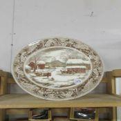 A Johnson Bros. meat platter.